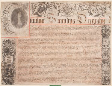 Charter of Charles II, 1674 | Courtesy of Oswestry Archives