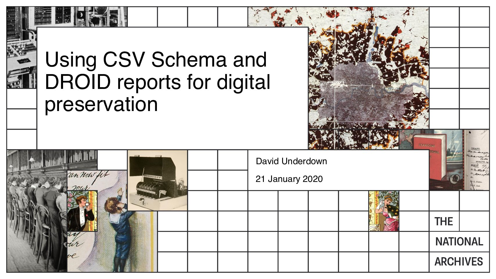 Using CSV Schema and DROID reports for digital preservation