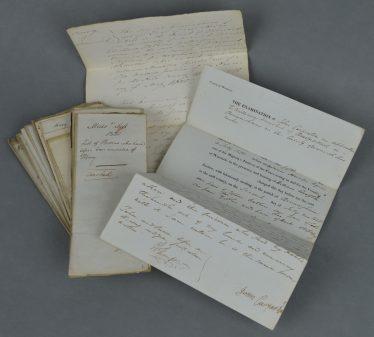 A typical bundle of depositions   Courtesy of Warwickshire County Record Office