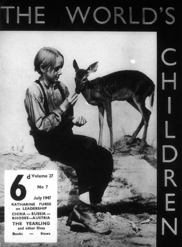 Issue of The World's Children from 1947 features a review of 'The Yearling' | Courtesy of University of Birmingham